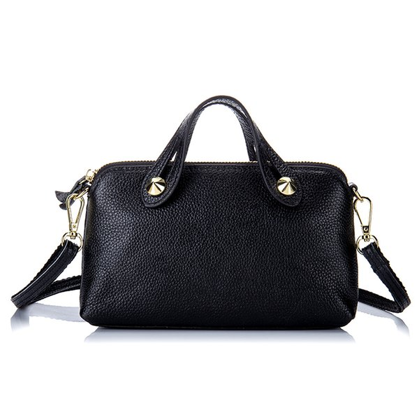 Genuine Leather Women Fashion Shoulder Bag First Layer of Cowhide Lady Crossbody Bag Female Handbag Girls' Small Messenger