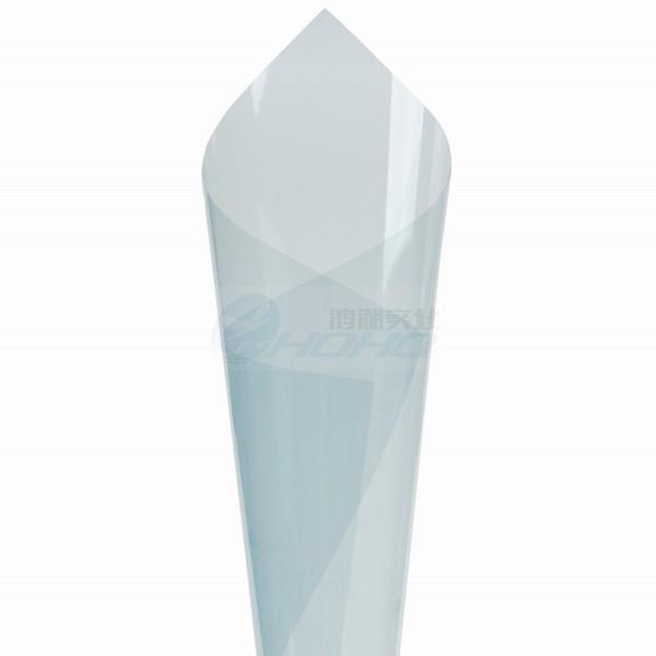 Light Blue Self Adhesive Nano Ceramic Tint Hohe Wärmedämmung VLT80% Auto-Träger-Windschutzscheibe Verpackungs-Film UV Proof Vinyl 0.8x5m