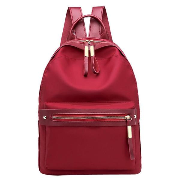 2019 Nylon Fashion Backpacks Women Young Ladies Backpack Girl Student School Bag For Laptop Travel Bag Black Mochilas Hot Sale