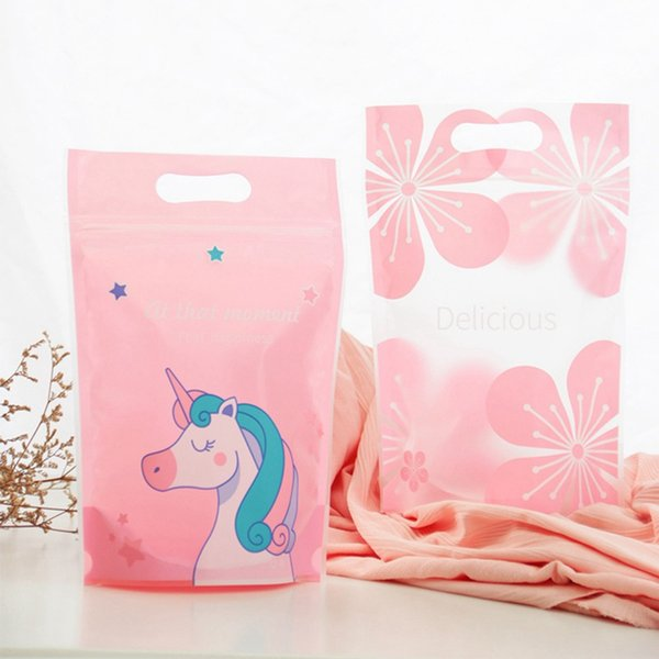 Plastic Transparent Clear Cellophane Candy Cookie Gift Unicorn Bag Package For Biscuit Snack Baking Wedding Birthday Decoration Kids Wrapping Paper