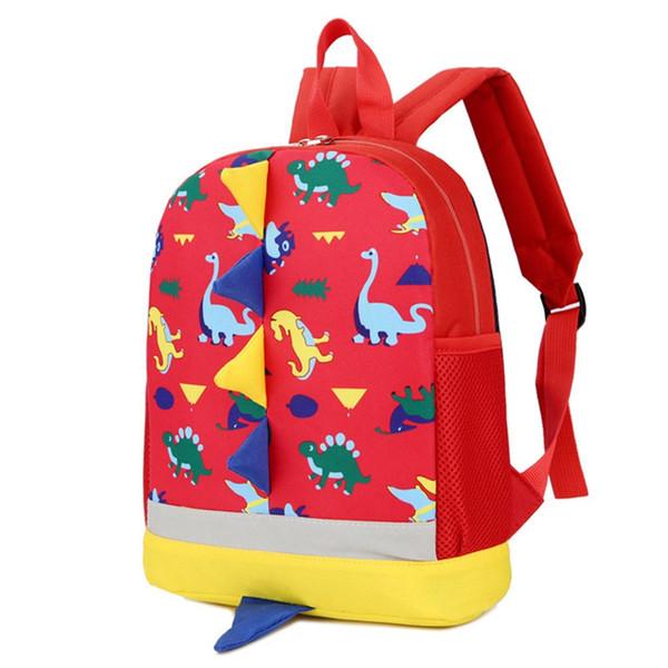1 PC Children Dinosaur Backpack Girls Boy Nylon School Bag Rucksack Kindergarten School Backpack Dropship New 25cm*30cm*10cm