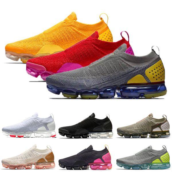Acheter Nike Air Max Vapormax FLYKNIT Moc 2 Baskets Sans Lacets Femmes  Hommes Chaussures De Course Université Gold Red Fuchsia Blast Dark Runners  36 ...