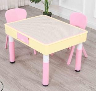 2020 venta caliente Mesas para niños Mesa de bloque de graffiti multifuncional mesa de juguete de doble uso mesa y sillas de plástico para jardín de infantes