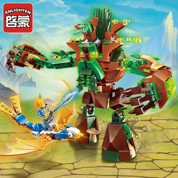 Uilding bau spielzeug blocks enlighten baustein war of glory schloss ritter war of ancient tree 1 figuren 286 stücke paladin / flieg ...