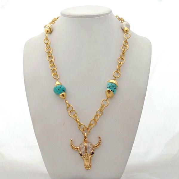 Blanc Keshi Pearl 24 k or jaune plaqué collier tour de cou