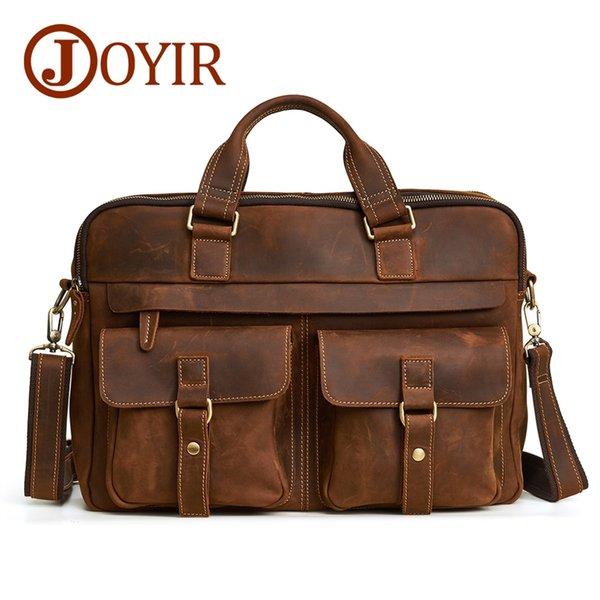 b50b9c4bd27a JOYIR мужская портфель сумка из натуральной кожи Кожа ноутбук сумка бизнес  компьютер плечо Crossbody Messenger сумка
