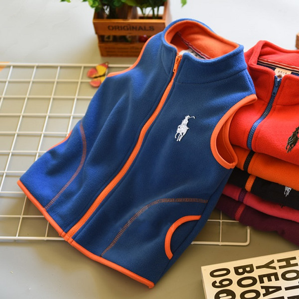 2019 boys girls brand fashion coat children/kids vests waistcoats cotton boys vest autumn winter jacket casual zipper outwear thumbnail