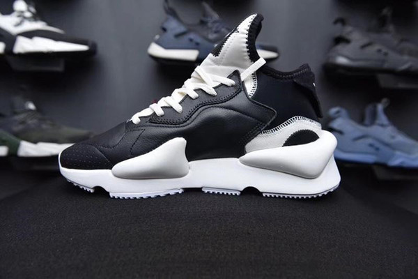 Las mejores marcas de moda de los holgazanes de Calidad Deportes mujeres zapatos corrientes del mens para los hombres Y3 Kaiwa las zapatillas de deporte de corredores de los nuevos entrenadores de la llegada con la caja Y3