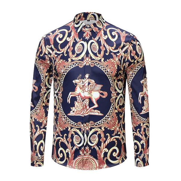 New Pattern Fashion Slim Type Long Sleeves Color Blue Shirt Man Pure Color T-shirt Mens Dress Shirts