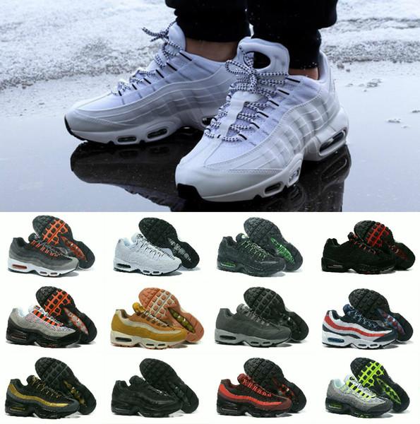 Compre 95 Hombres Zapatillas De Deporte Tirar De La Lengüeta Negro Marrón Blanco Pizarra Azul La Mejor Calidad Clásicos 95s Zapatillas De Deporte De
