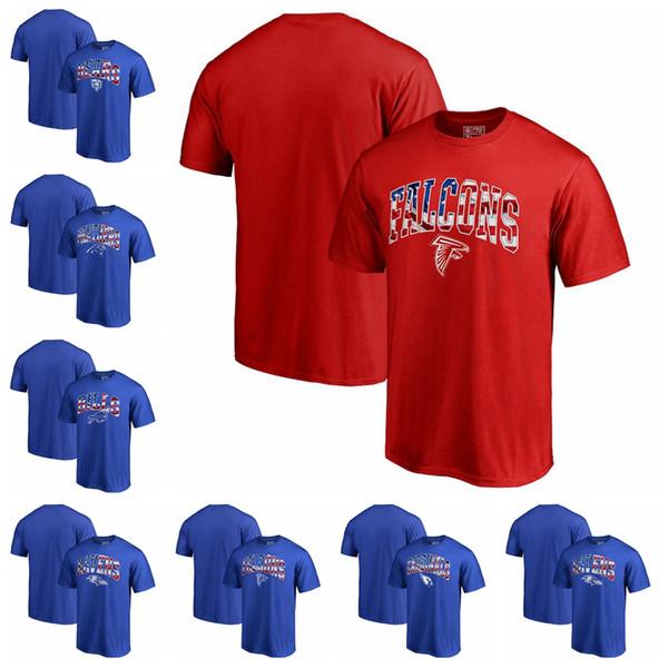 Yeni 2020 kazak En Kaliteli Erkek Kardinaller Şahinleri Ravens Faturaları Panterler Ayılar Afiş Dalga T Gömlek pamuk Ücretsi ...