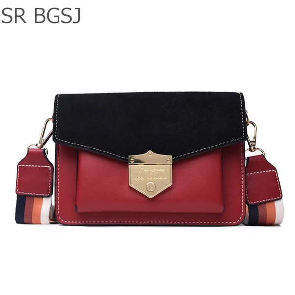 Free Shipping Black/Red/Khaki Vintage Lady Woman Leather Shoulder Satchel PU Messenger Bag Chains Day Pack