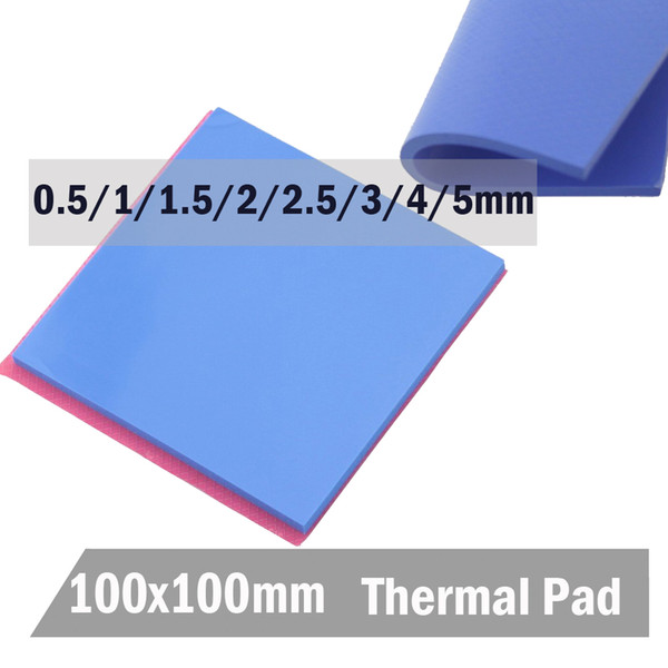 silicone conduction Gdstime 100x100 10cm 0.5 1 1.5 2 3 4mm 4mm thickness Blue Silicone Conductive Heatsink Compound Thermal Pad