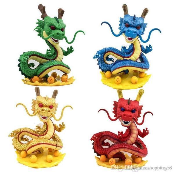 FUNKO POP! Shenron Dragon Ball Z Action Figure Altın / Yeşil / Mavi / Kırmızı Vinil # Şekil Kutusu Ile # 424 Oyuncak Gify Doll İyi Kalite