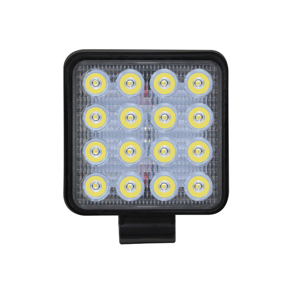 48W 4800LM IP68 Waterproof Square LED Strip Work Light Bar Refit Off-road Light Roof Strip Lamp Vehicle SUV