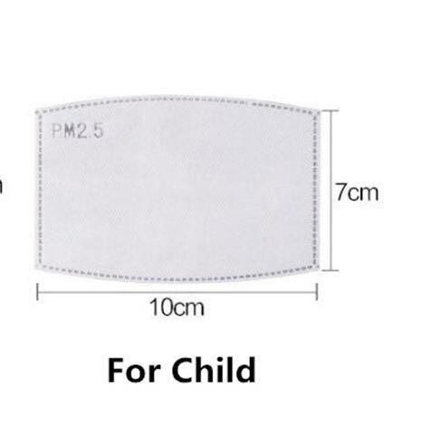 Filtre için çocuk boyutu 10x7 cm