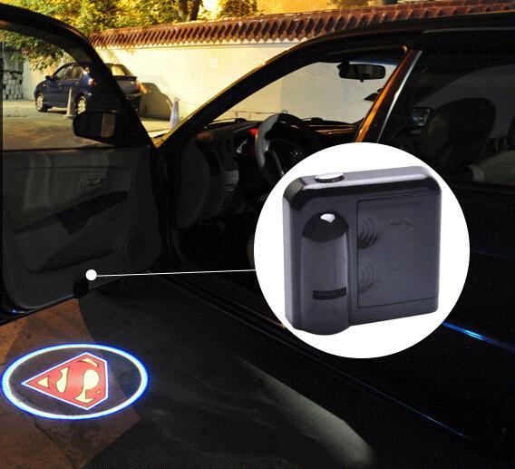 Atacado-sem fio da luz da porta do carro projetor de logotipo bem-vindo lâmpada led sombra fantasma luz para Audi Benz Toyota Nissan