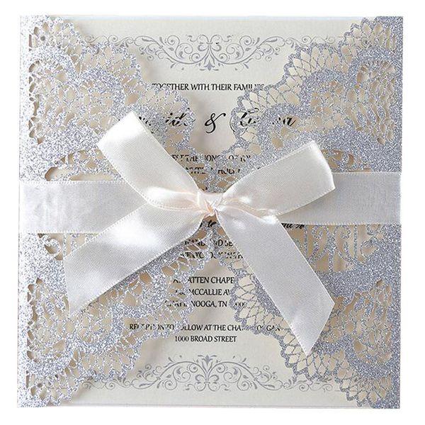 Laser Cutting Custom Invitations Bump Glitter Design Wedding Banquet Business Event Invitation Card E Greetings Card E Greetings Cards From Bowstring
