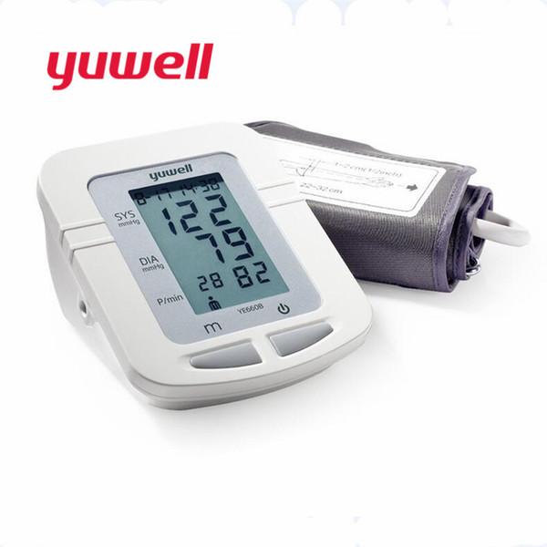 Yuwell YE660B monitor de presión arterial reloj esfigmomanómetro automático tensiometro brazo digital medidor de presión arterial tonómetro CE