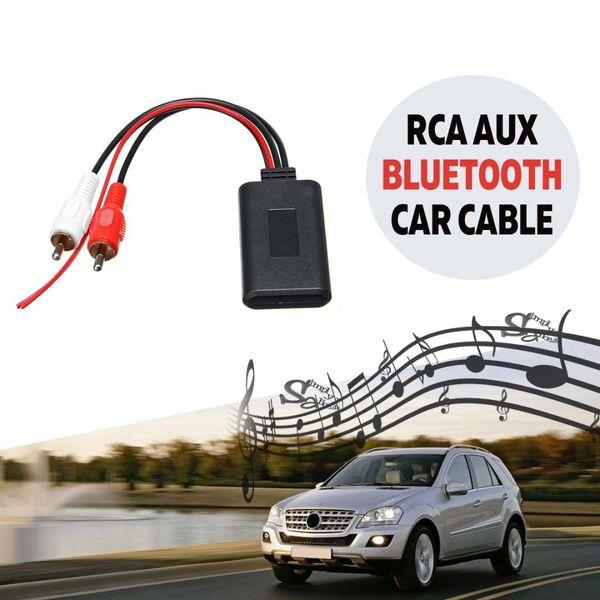 2 Collegamento RCA AUX IN fili Bluetooth Adattatore per ingresso stereo di musica senza fili di audio AUX cavo universale per camion Auto