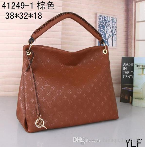 ¡VENTA! # 40249 Famosa marca 2019 nuevos bolsos de mujer L flor diseñador de lujo bolsos compuestos dama embrague bolso de hombro bolso femenino con billetera
