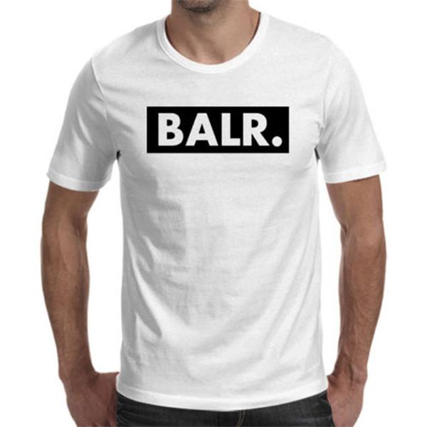 Mens Designer T Shirts Balr Marke Buchstaben Druck Einfarbig Shirts Aushöhlen Street Wear T-shirts Asiatische Größe S-3XL