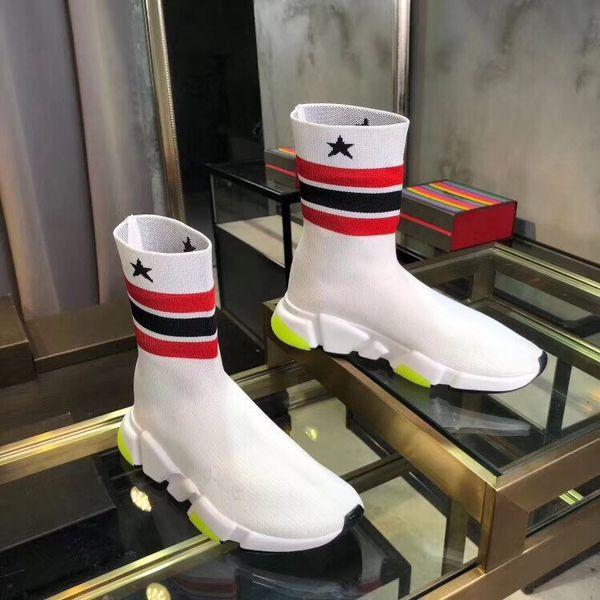 Triple Black Designer Designer Chaussures Speed Trainer Oreo Flat Chaussettes De Mode Designer Hommes Femmes Baskets fz19050104
