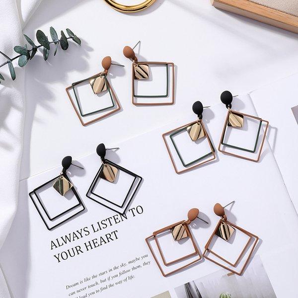 Retro women's fashion statement Round DiamondDangle Earrings for wedding party Christmas gift 4 Styles Select