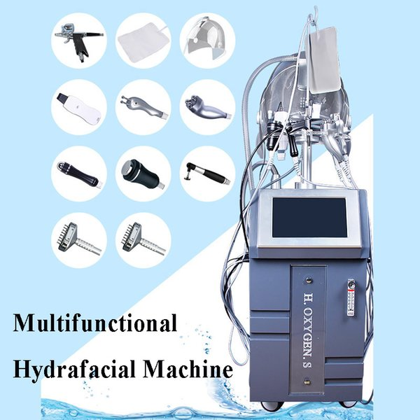 Hot sale 10 in 1 Mesotherapy RF Water Hydra Facial Dermabrasion LED Mask Oxygen Jet BIO Face Lift Ultrasonic Machine Spa Facial Equipment