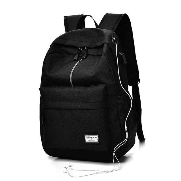 Men Backpack Usb Charging Laptop Backpacks Canvas Bookbags School Bags Casual Rucksack Daypack High Quality Travel Backpacks