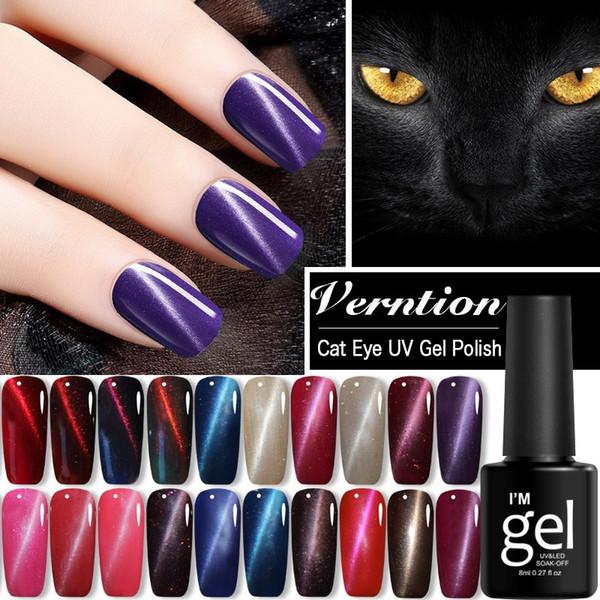 Cat Eye Glitter Shinny Smalto per unghie Magic DIY Nail Art Manicure Forte effetto magnetico Impregnare UV LED Gel Vernice 8ml