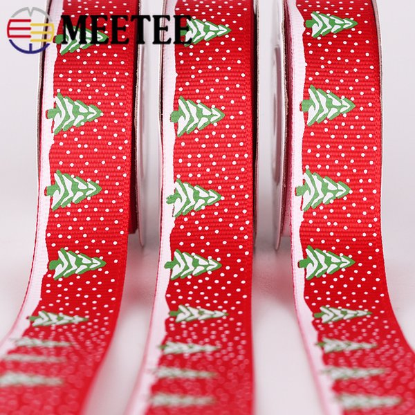 Meetee Double Grosgrain Ribbon DIY Christmas New Year Decoration Gift Packaging Sewing Process BD259