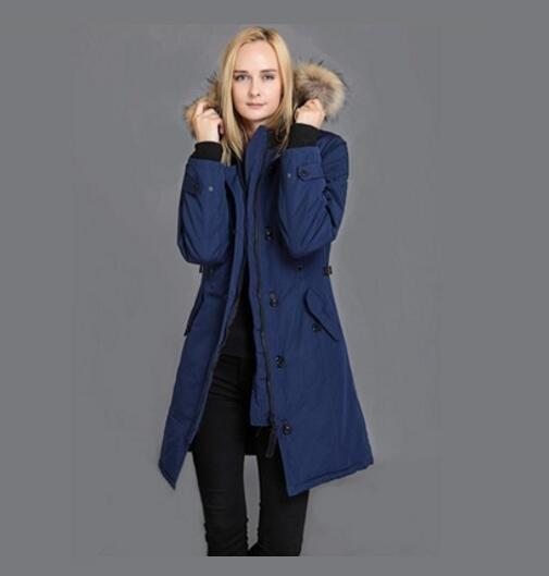 Manufacturers direct custom outdoor 2019 new Canada thickened warm imported white goose down jacket women's windproof waterproof coat XS-2XL