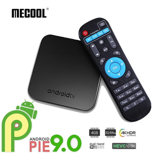 Mecool KM9 Android 9.0 TV Box LPDDR4 4GB 32GB Smart Set Top Box Amlogic S905X2 Quad Core Streaming Media Player Bluetooth Dual Wifi 2.4G/5G