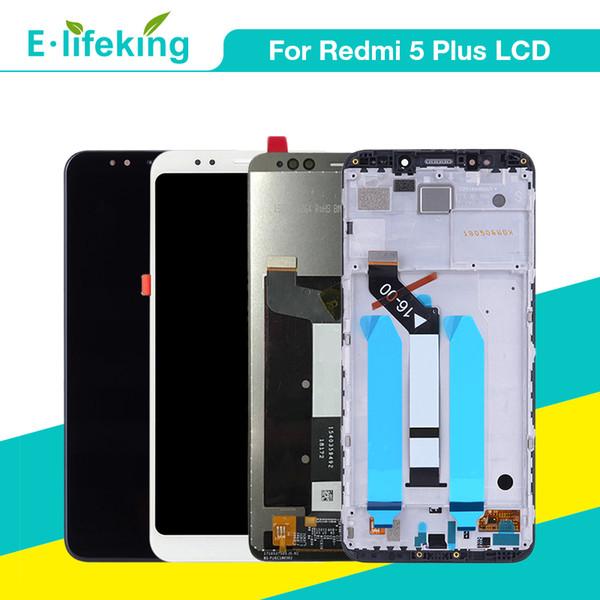 Tela lcd para xiaomi redmi 5 plus tela de toque display lcd assembléia digitador 10 pontos de toque com quadro de substituição 5.99