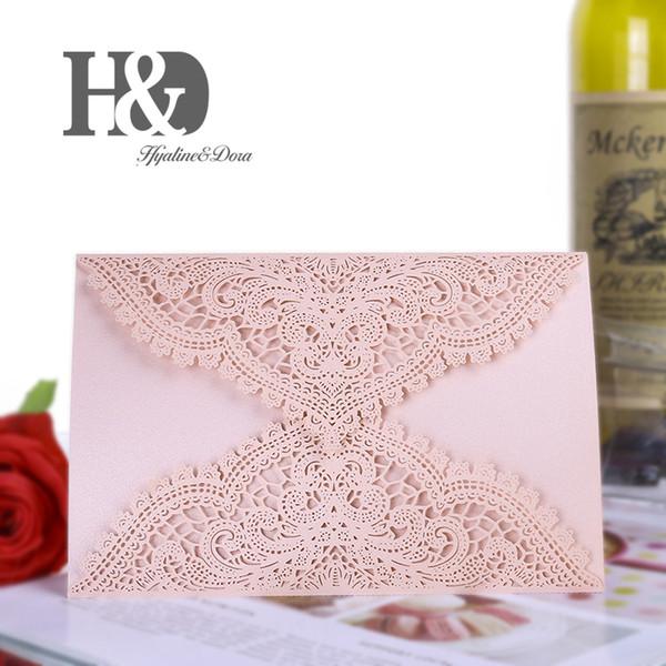 Compre Hd 12 Unids Pink Luxury Laser Cut Diseño Floral Invitaciones De Boda Tarjetas Elegante Cumpleaños Kits De Tarjetas De Felicitación Decoración