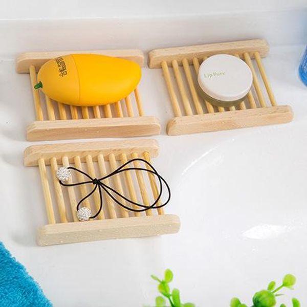 Porte-savon Porte-savon en bois pour porte-savon pour lavabo, lavabo, évier rectangulaire