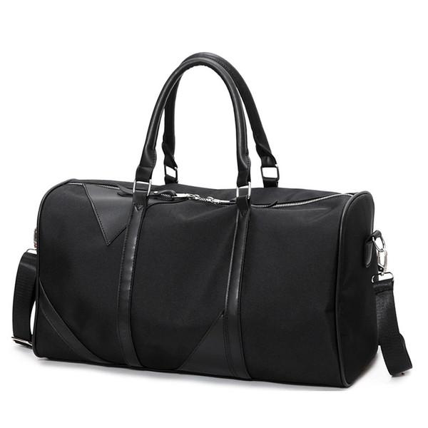Factory Men New Black Large Tote Handbags Women Waterproof Oxford Shoulder Crossbody Bag Travel Duffle Boarding Hand Bags