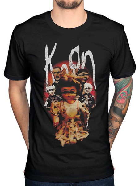 Kids Soft Cotton T Shirt Korn-Issues Stylish Crewneck Short Sleeve Tops Black