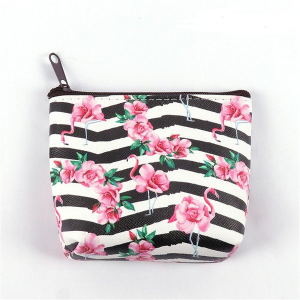 2019 Women Flamingo Mini Cosmetic Bag Keys Pouch Card Holder Earphone Package Bags Kids Money Bags Travel Gift