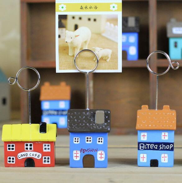 Japanese style zakka groceries small house resin decoration business card holder note paper photo folder postcard holder wholesale