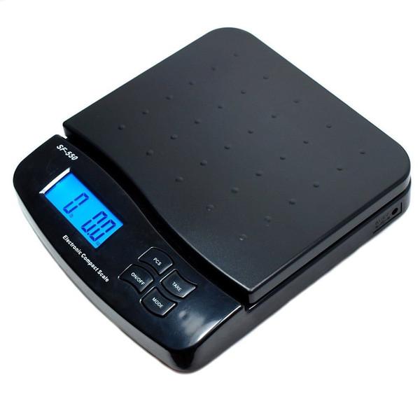25kg / 1g 55 lb Poste de envío digital Escala de la tabla Paquete de la carta Envío postal Pese las balanzas de pesaje electrónicas LCD retroiluminada
