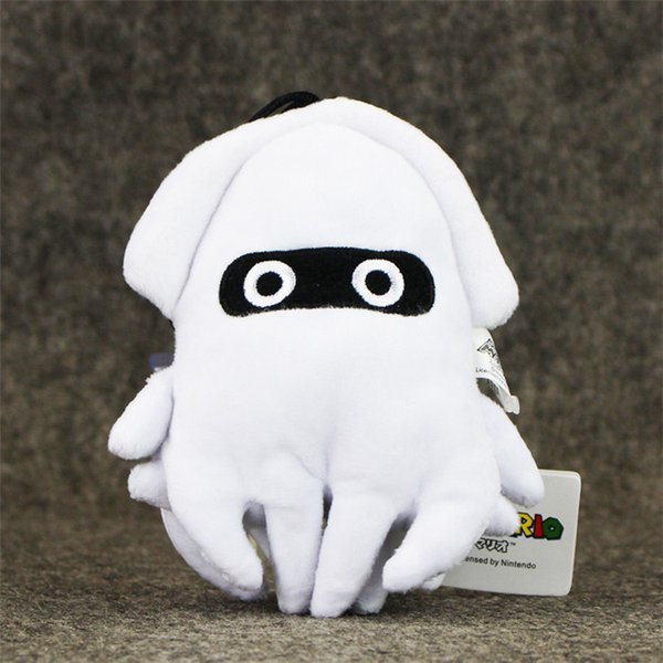 20170617 14cm Super Mario Bros Plush Toy White Blooper Squid Stuffed Animal Doll Gift For Children