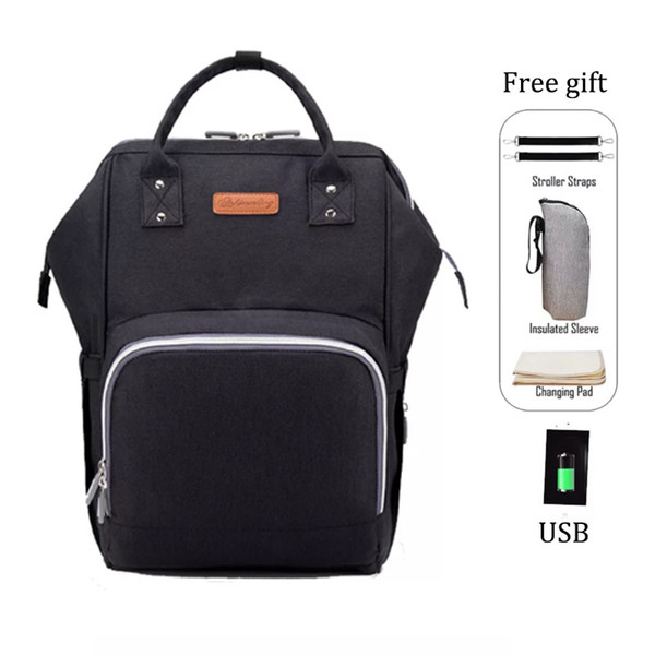 11C Diaper Bag Backpack with USB Charging Port Waterproof Baby Nursing Nappy Travel Backpack with Large Capacity Lightweight Stylish Bag