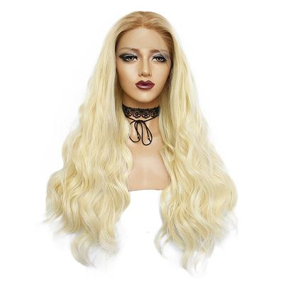 26 Inch Long Curly Wave Hair Natural Golden Wigs for Women Black To Golden Curly Lace Front Wig