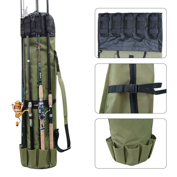 top popular Wholesale Fishing Accessories New Arrivel Portable Multifunction Nylon Fishing Rod Bag Case Fishing Tackle Tools Storage Bag 2021