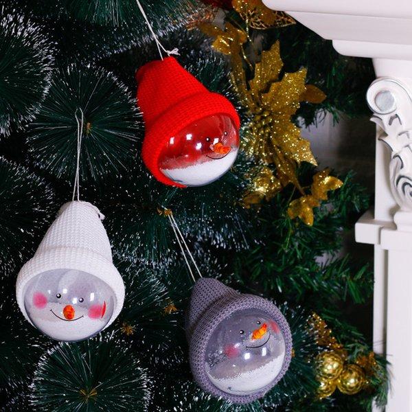 Palla per decorazioni natalizie Palla per neve di Natale trasparente con ornamenti per cappelli bombki choinkowe bolas de navidad