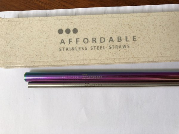 top popular Support To Engrave Logo !! 215MM *6MM Eco-Friendly Stainless Steel Straw Reusable Food Grade Sucker Drinking Straw Straight & Bend Straws 2021