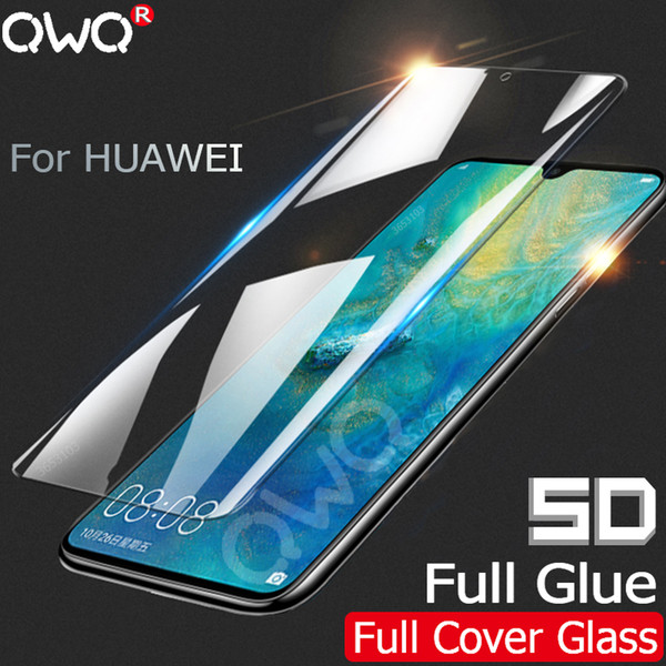 5D Full glue Tempered Glass For Huawei P smart Plus Mate 20 10 P20 Lite Pro Screen Protector For Huawei P10 Lite Full Cover Film