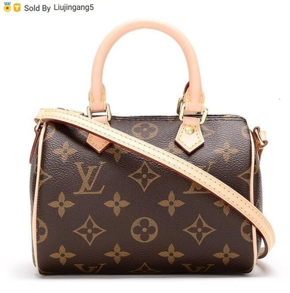 Liujingang5 61252 62227 Взрыв Модели Nanospeedy Мини Ковш сумка Холст кожа M6122n Totes сумки плеча сумки Рюкзаки Бумажники